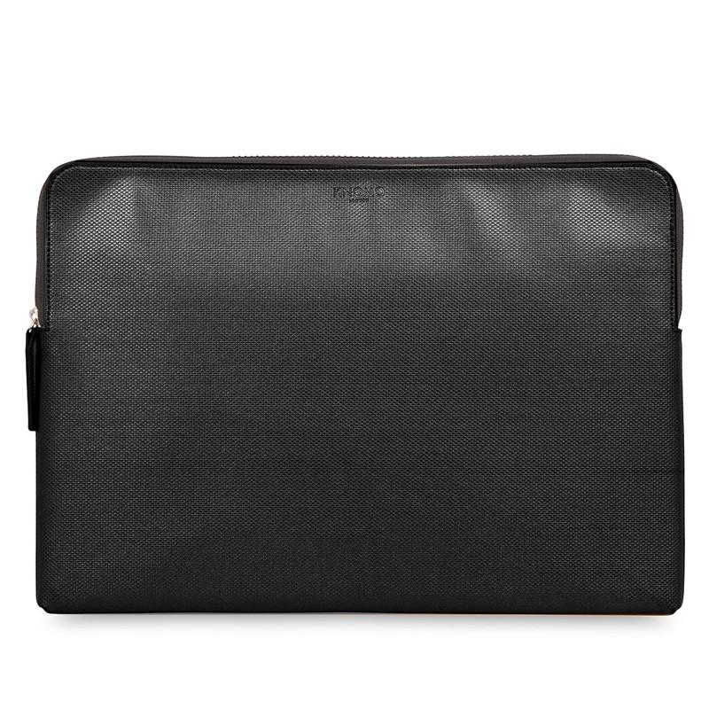 Knomo - Embossed Laptop Sleeve 15 inch MacBook Pro Black 01