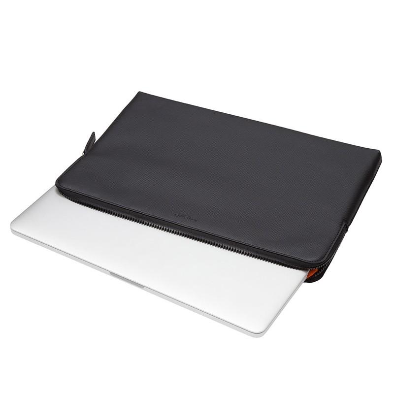 Knomo - Embossed Laptop Sleeve 15 inch MacBook Pro Black 05