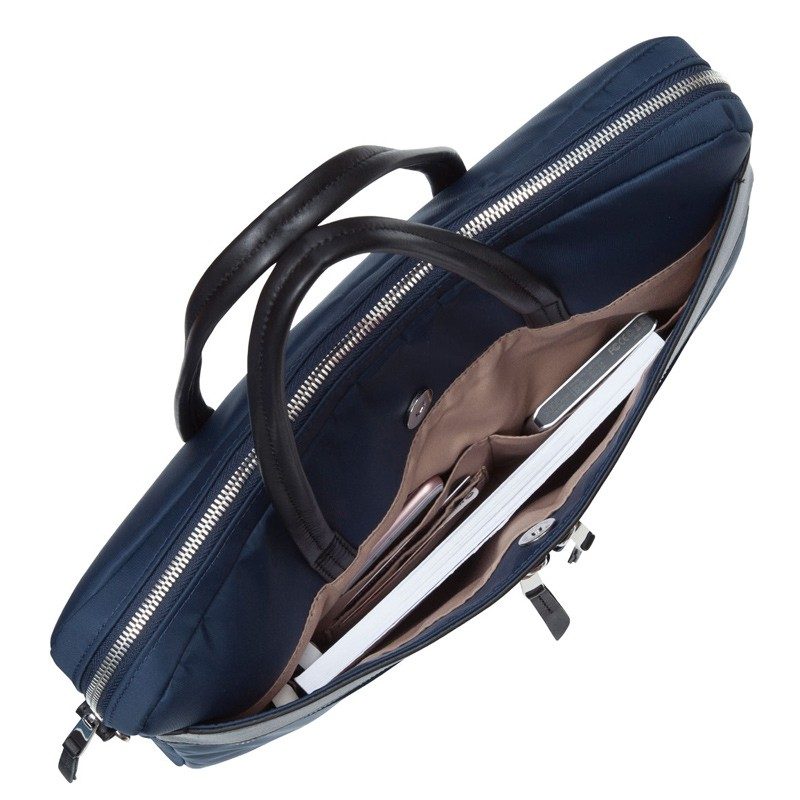 Knomo - Hanover 14 inch Slim Laptop Briefcase Navy Blue 06