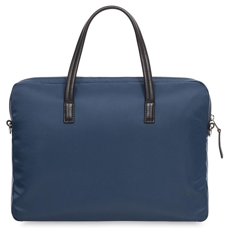 Knomo - Hanover 14 inch Slim Laptop Briefcase Navy Blue 07