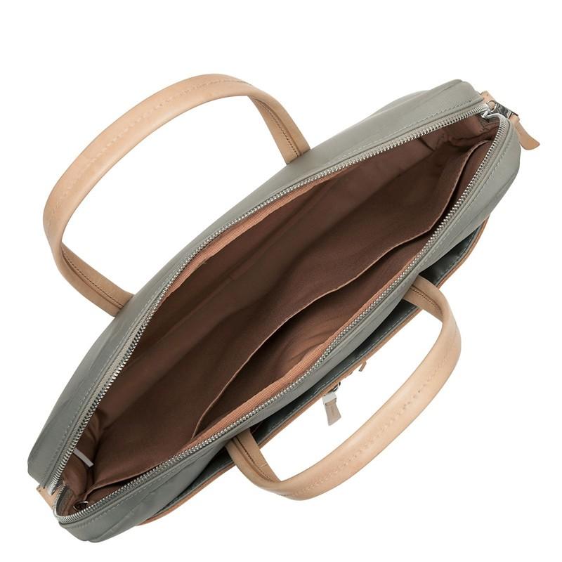 Knomo - Hanover 14 inch Slim Laptop Briefcase Olive 05