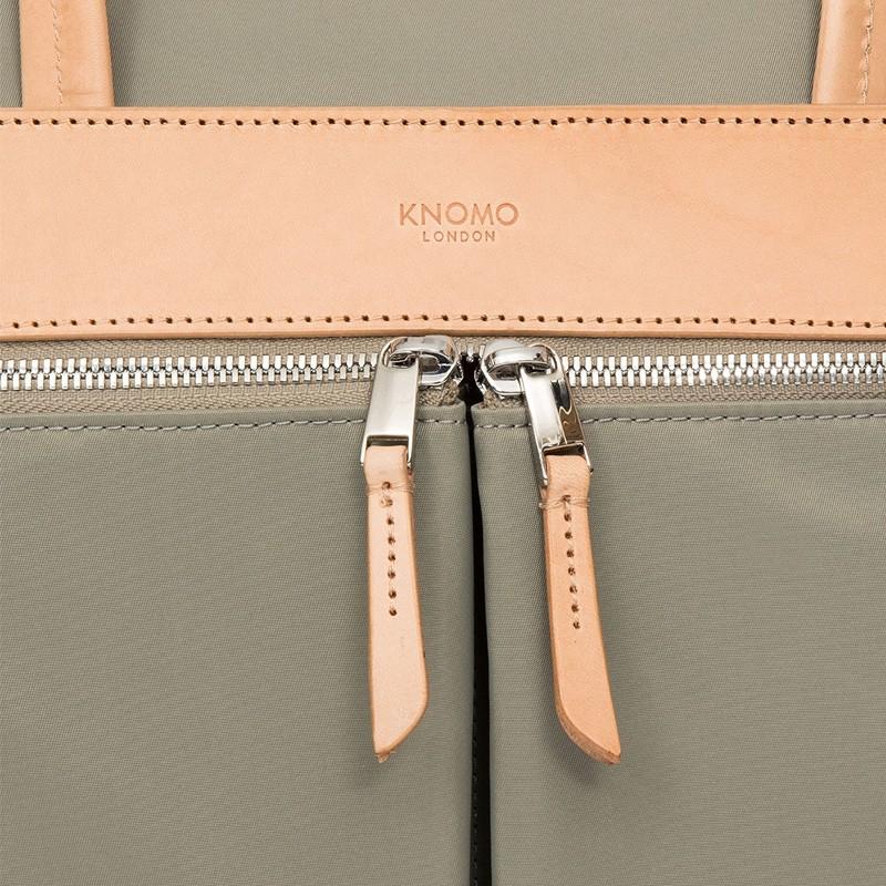 Knomo - Hanover 14 inch Slim Laptop Briefcase Olive 07