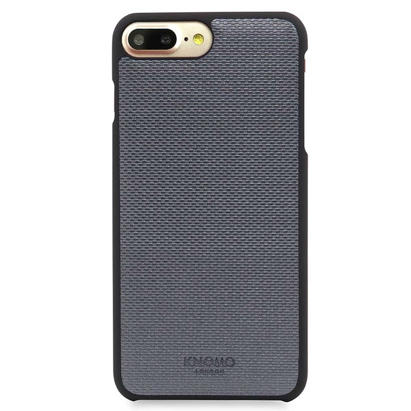 Knomo - Leather Snap On Hoes iPhone 7/6S/6 Plus Silver 02