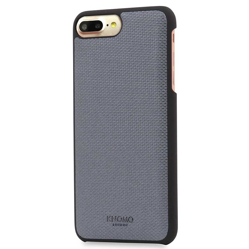 Knomo - Leather Snap On Hoes iPhone 7/6S/6 Plus Silver 01