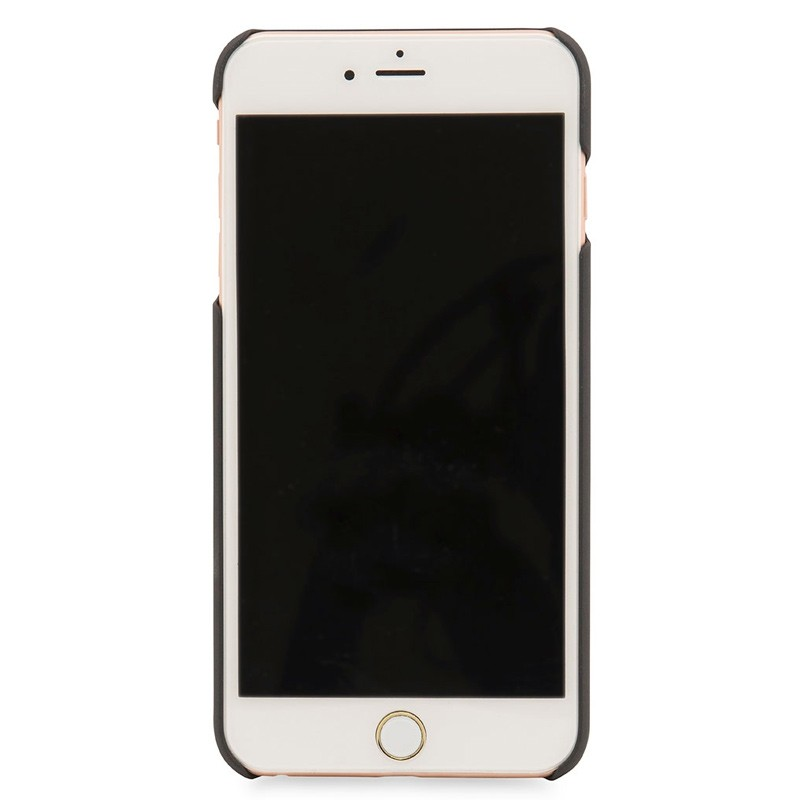 Knomo - Leather Snap On Hoes iPhone 7/6S/6 Plus Silver 03