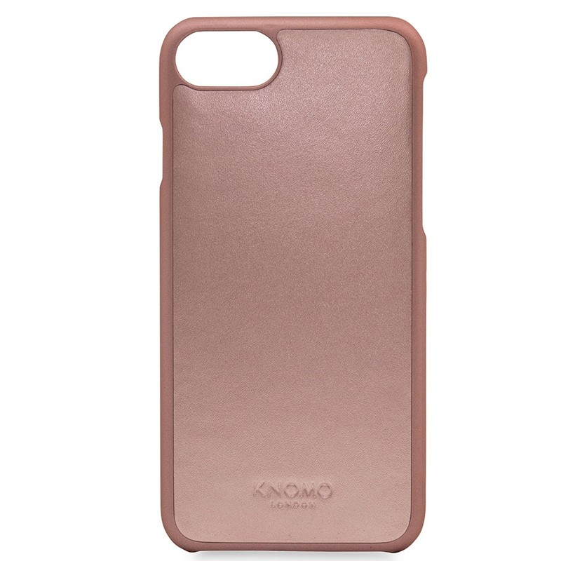 Knomo - Leather Snap On Hoes iPhone 7 Silver Rose Gold 0