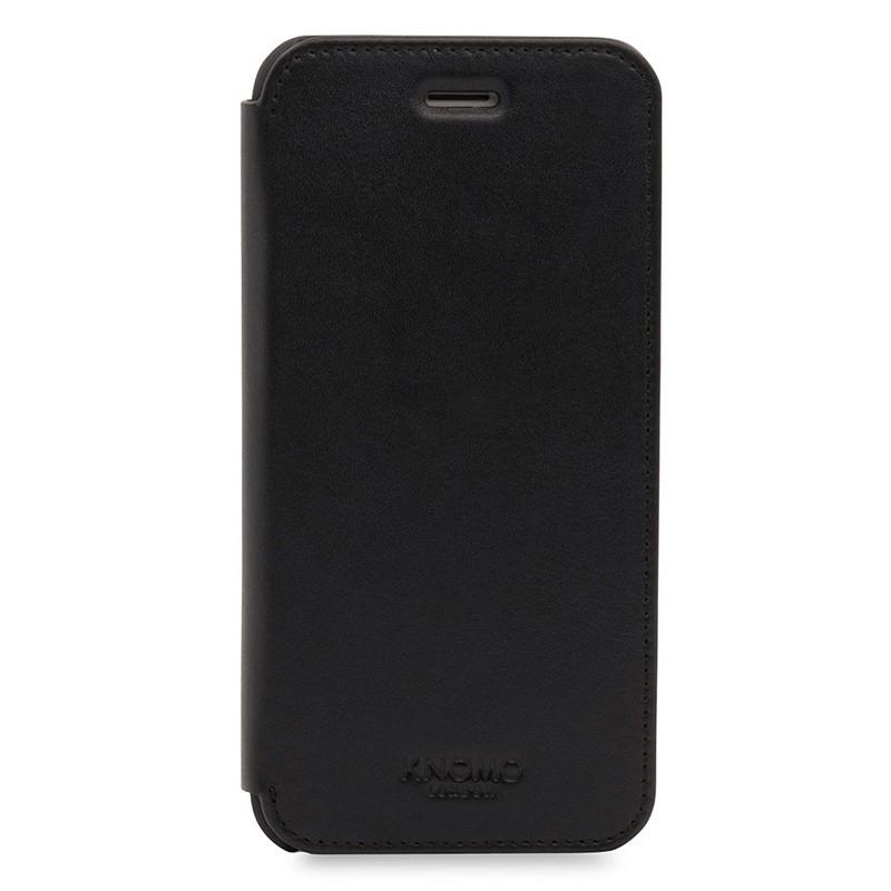 Knomo Leather Folio iPhone 7 Black 01
