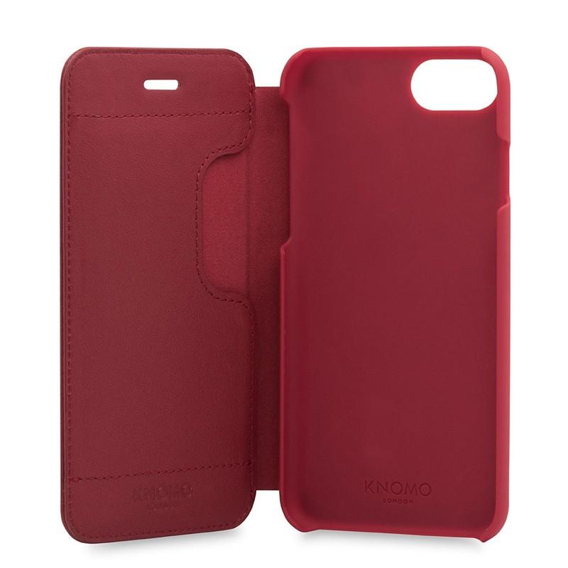 Knomo Leather Folio iPhone 7 Chili 05