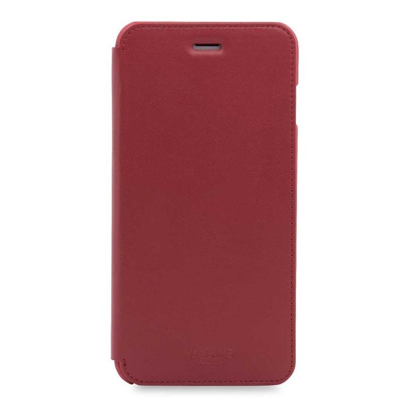 Knomo Leather Folio iPhone 7 Plus Chili 01
