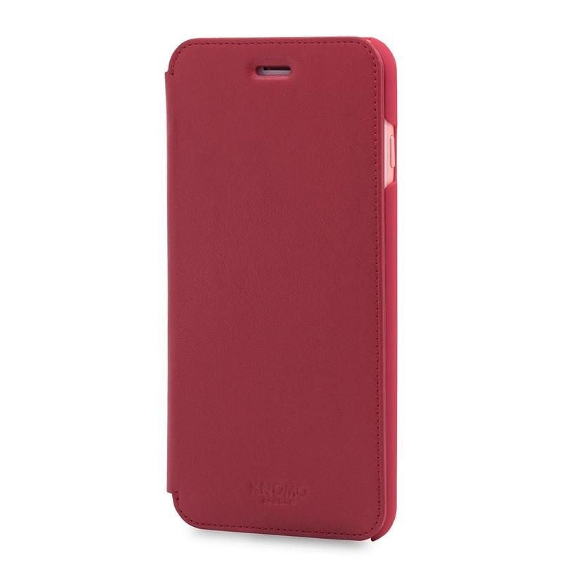 Knomo Leather Folio iPhone 7 Plus Chili 02