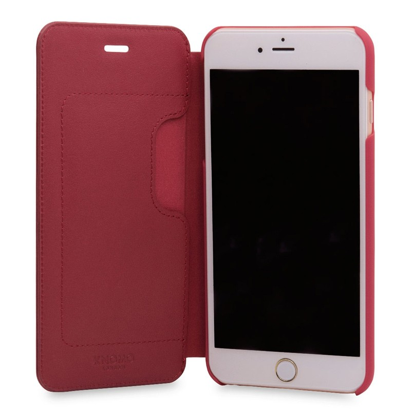 Knomo Leather Folio iPhone 7 Plus Chili 04