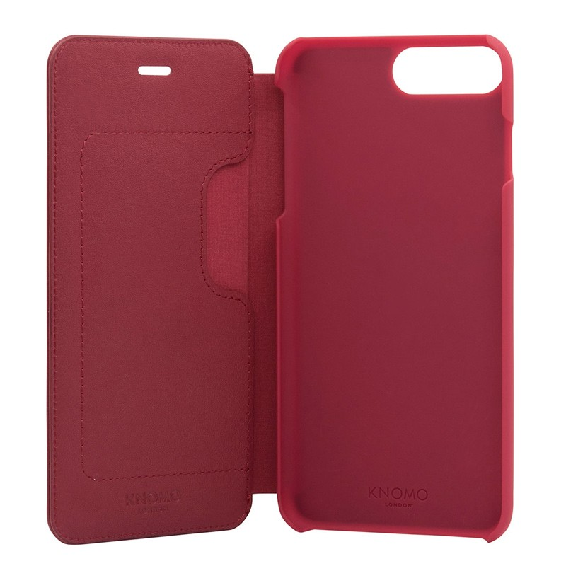 Knomo Leather Folio iPhone 7 Plus Chili 05