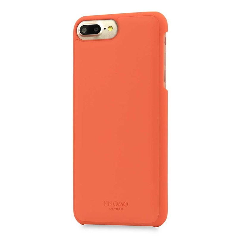 Knomo Leather Snap On Hoes iPhone 7 Plus Orange 01