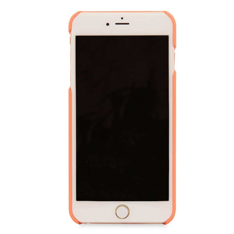 Knomo Leather Snap On Hoes iPhone 7 Plus Orange 03