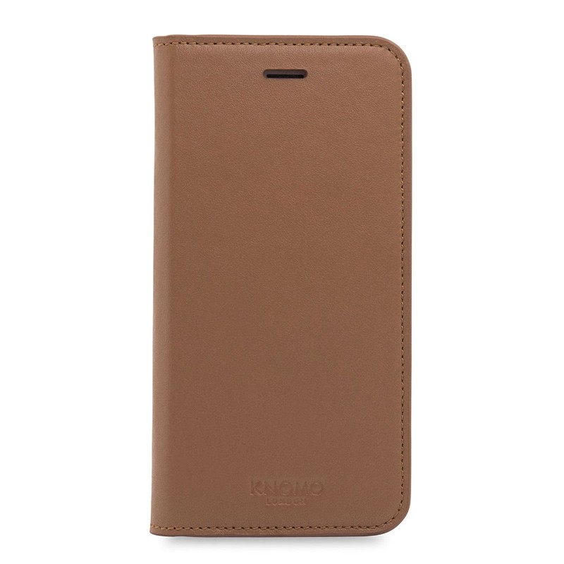 Knomo Premium Leather Folio iPhone 7 Caramel 01