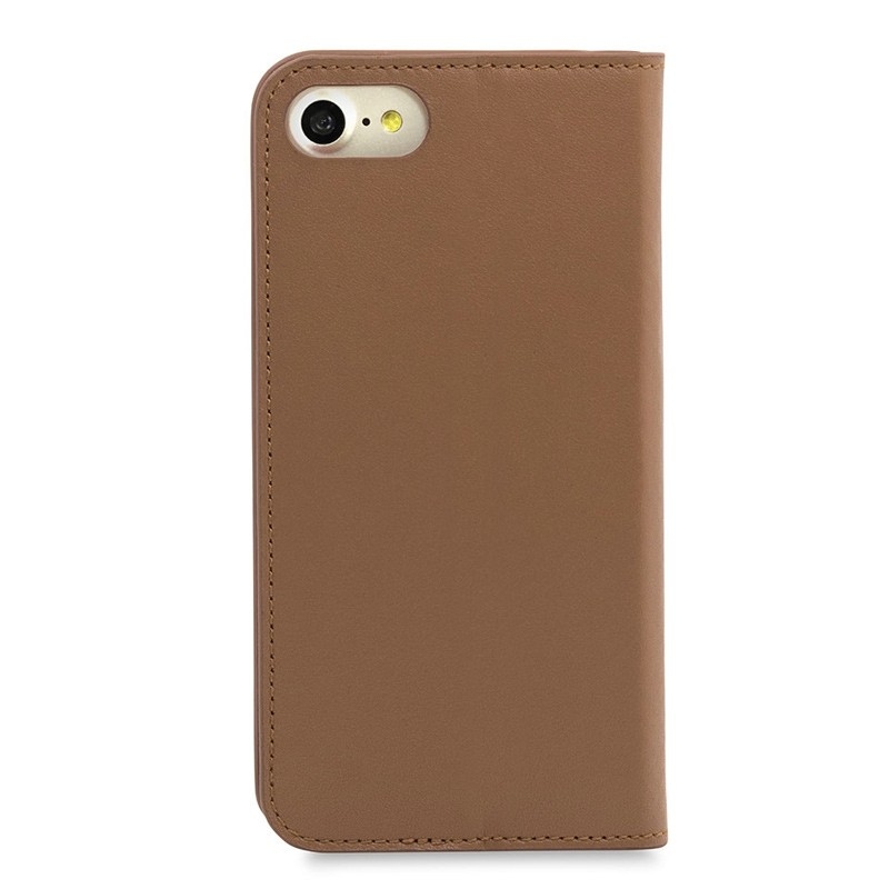 Knomo Premium Leather Folio iPhone 7 Caramel 02