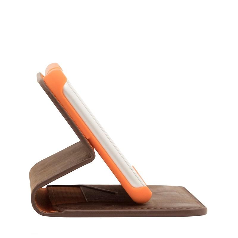 Knomo Premium Leather Folio iPhone 7 Plus Brown 06